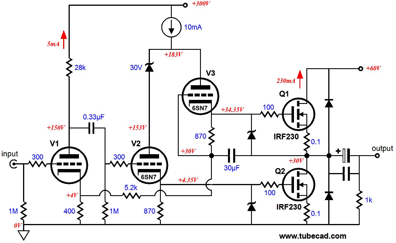 Схема усилителя на лампах своими руками