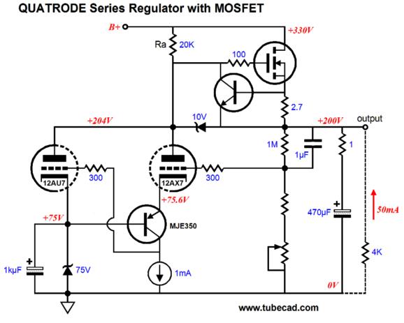 High Voltage Regulator : Quatrode