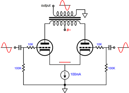 cathode bias with a counstant current source