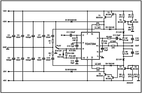 Tda Class G Power Amplifier Small Schematic