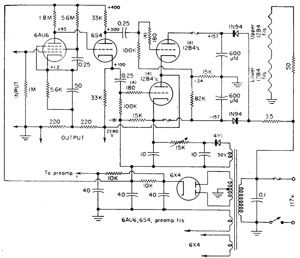 Ps 18 Sandman Error Takeoff Otl Amplifiers Transformerless 12v Power Supply Click On Schematic To See Closeup