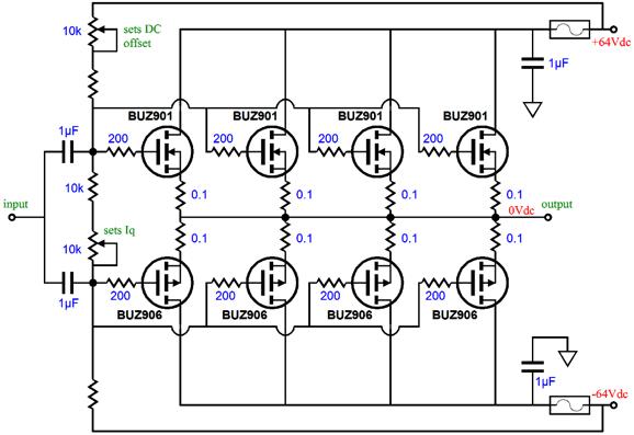 Three Technologies Hybrid Amplifier