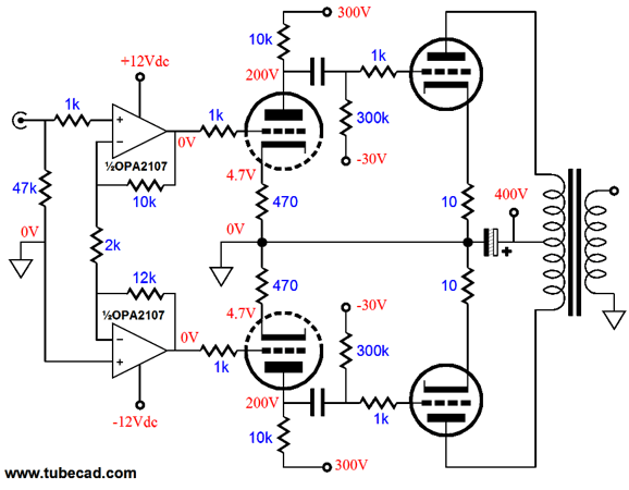 has anyone used an opamp to split phase for a tube amp  - page 3
