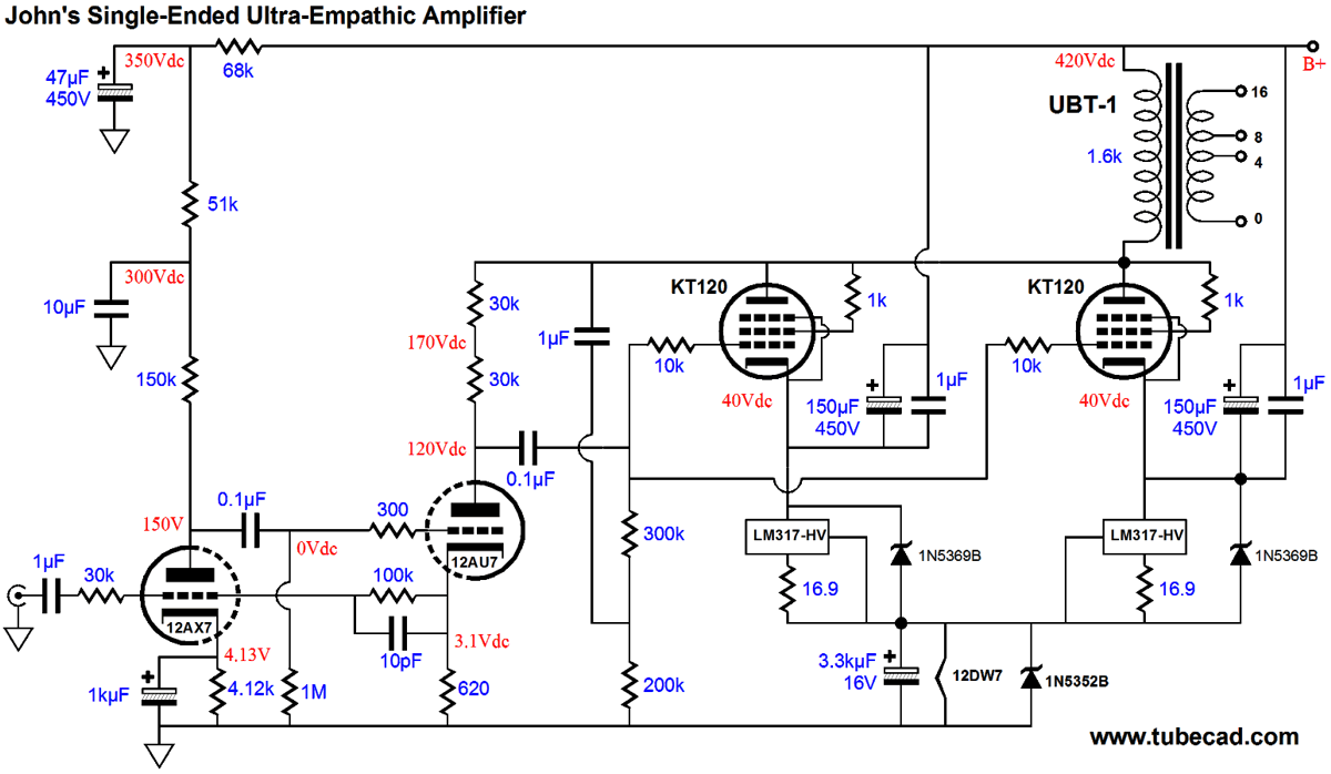 Single Ended Ultra Empathic By John Broskie Large on Single Ended Tube Amp Schematic