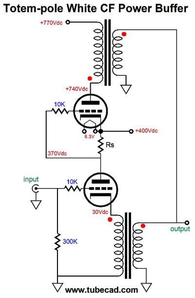 simple tube math  u0026 white cathode follower power buffers