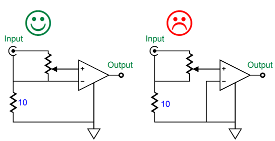 unbalancing the differential amplifier