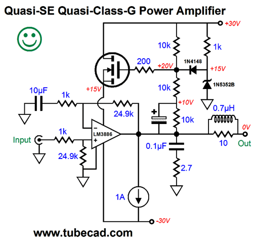 Partial-Single-Ended Quasi-Class-G Power Amplifier Best Version